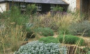 Bury Court garden in Surrey.