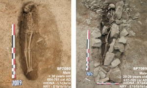 Photos of the archeological find