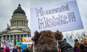 As Trump signed proclamations to shrink two national monuments in Utah, thousands of people gathered outside the state capitol building to protest what is the largest elimination of protected areas in US history.