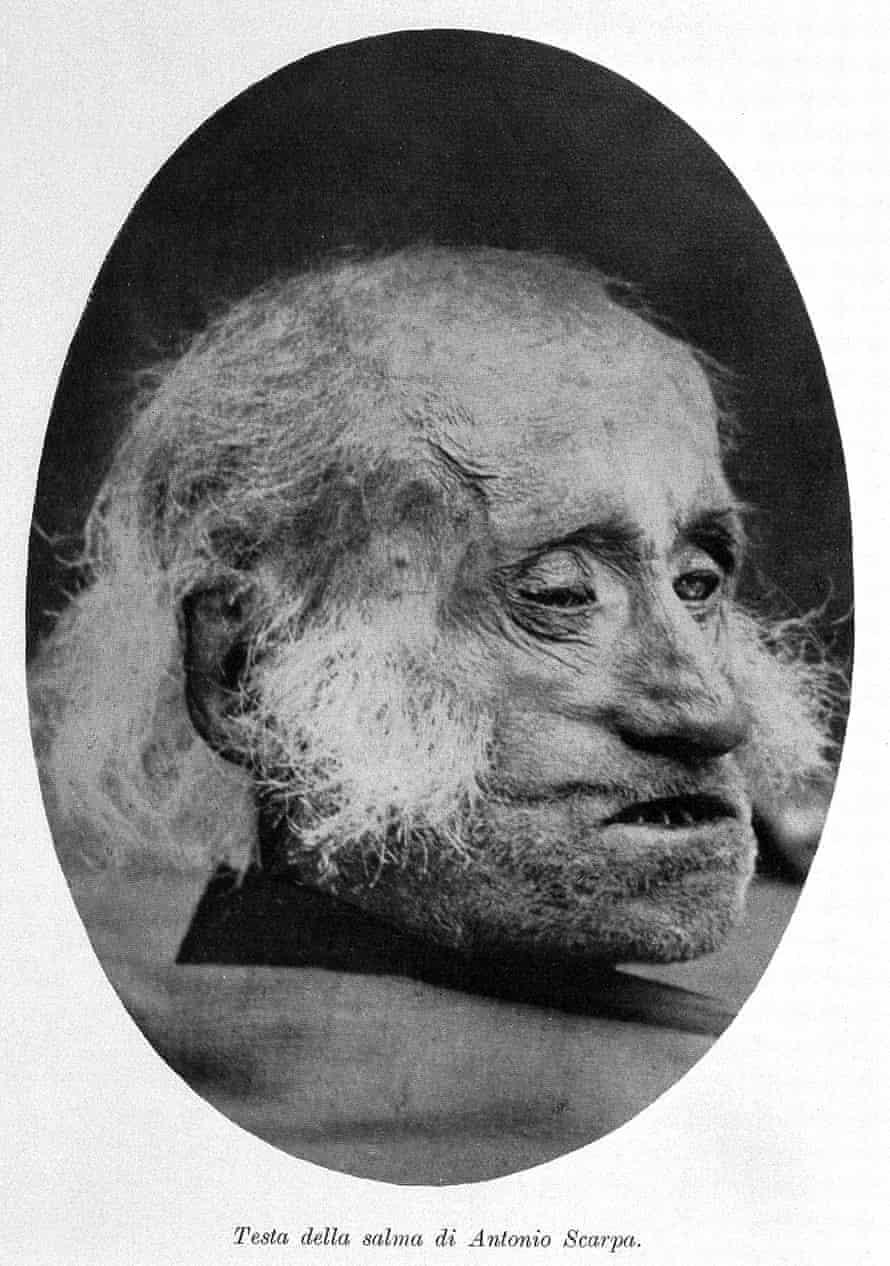 Head of Antonio Scarpa, at the museo della storia dell' Universita di Pavia.