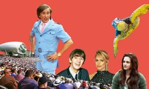 Composite of photographs of Lord's cricket ground; drummer Ringo Starr; Kristen Stewart as Bella Swan; turtle; Billie Piper; Steve Coogan as Alan Partridge