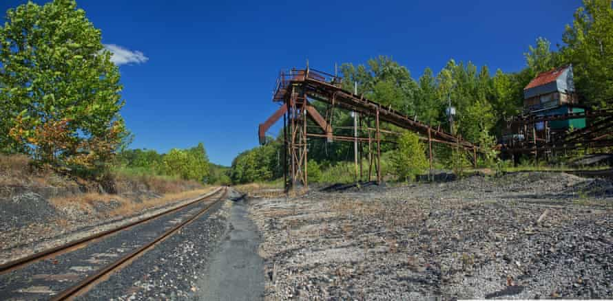 An abandoned railroad coal-loading station, Beattyville.