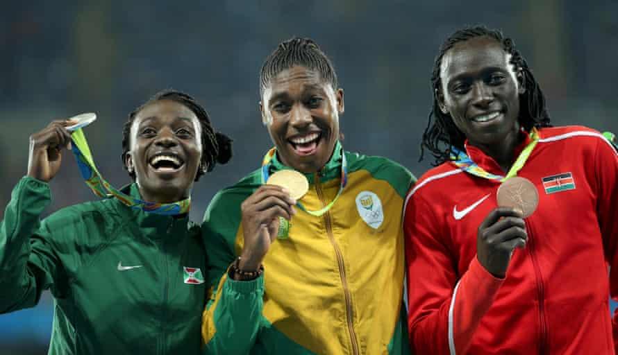 Francine Niyonsaba, Caster Semenya and Margaret Nyairera Wambui