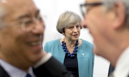 Theresa May at the EU summit in Malta earlier this week
