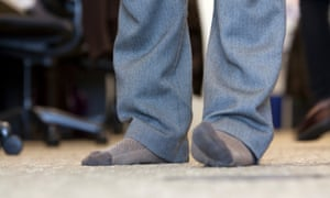 'Aren't all those stinky, smelly feet creating a health violation?'