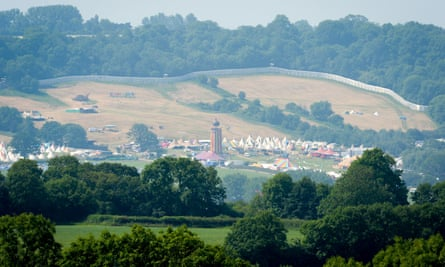 The Glastonbury festival site
