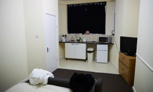One of the rooms for the working homeless at the Stop Start Go hostel in Manchester.