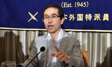 Shigeaki Koga, who says he was axed as a news pundit after criticising the Abe administration.