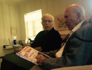 Still every inch the charmers … at home with Dick Van Dyke and Carl Reiner.