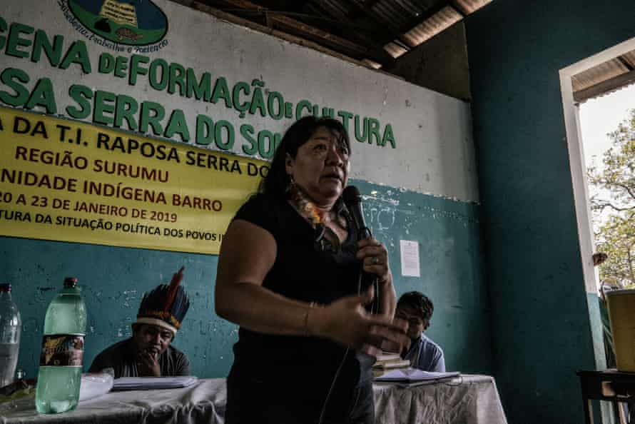 Lawyer Joênia de Carvalho, known by her tribal name Joênia Wapichana, was elected Brazil's first female indigenous federal deputy last October.