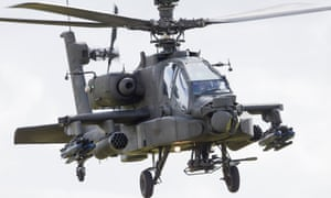 Boeing, which makes Apache attack helicopters, funds scholarships.