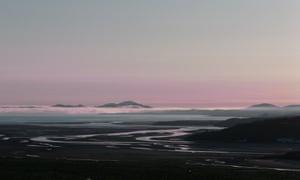 Craig Ddu and the beach of Morfa Bychan.