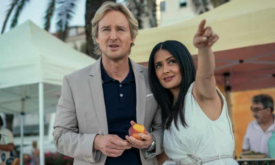 Jeopardy-free and interest-free ... Owen Wilson and Salma Hayek in Bliss.