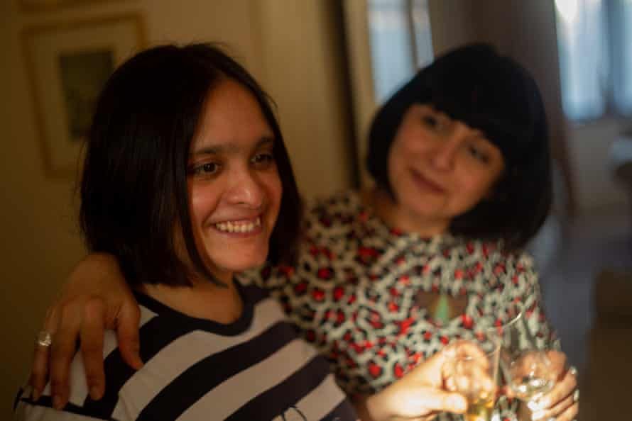 Saba Salman and her sister Raana