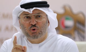 The UAE's foreign minister, Anwar Gargash