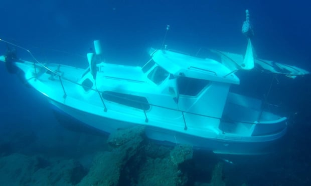The boat from which the 11 refugees' bodies were recovered