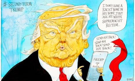 Donald Trump on FaceApp – cartoon