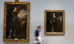 Van Dyck's portraits of Charles II as Prince of Wales and Thomas Wentworth, Earl of Strafford, part of the Portland collection.