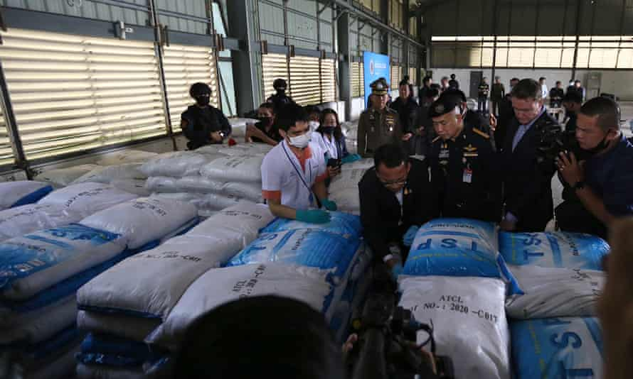 Thai police seized what they thought was more than 11,500 kilograms of ketamine, but tests proved otherwise.