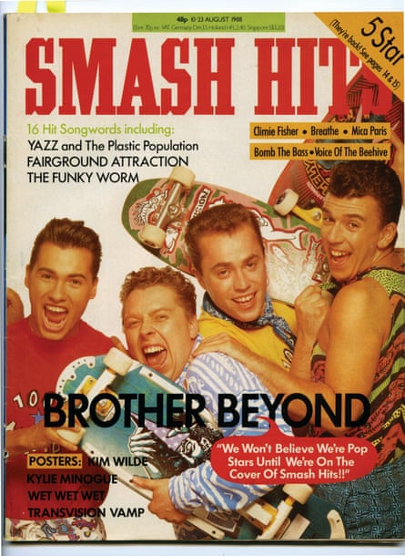 Brother Beyond on the cover of Smash Hits in 1988. One former band member is now Beyoncé's UK publicist.