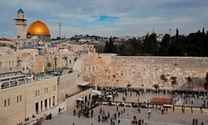 The Western Wall (right) and the Dome of the Rock in the Old City of Jerusalem.