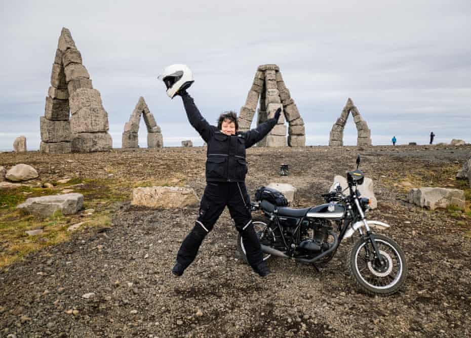 Gabrielle Motola at the Arctic Henge, Iceland