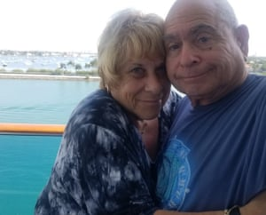 Leslie Goldstein and Jerry Goldstein on the Coral Princess.