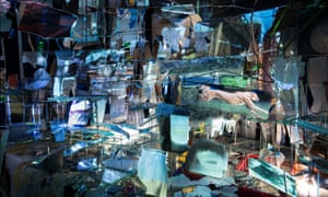 A detail from Sarah Sze's Images in Debris, 2018