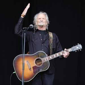 Kris Kristofferson performs on the Pyramid stage