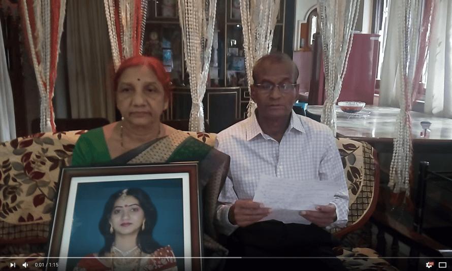 Savita Halappanavar's parents in their video appeal to Ireland.