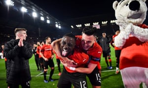Happy days for Rennes.
