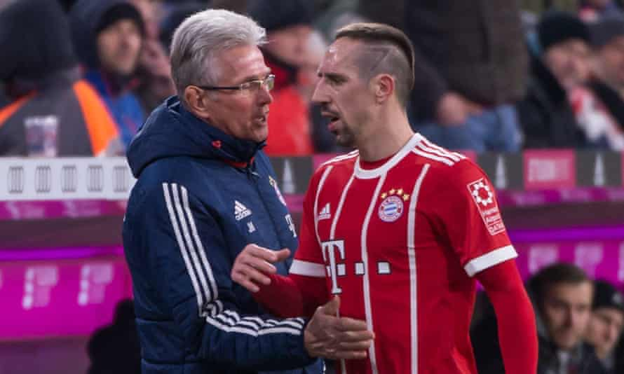 Jupp Heynckes was brought in when senior players such as Franck Ribéry (right) tired of Carlo Ancelotti, and the effect has been stunning.