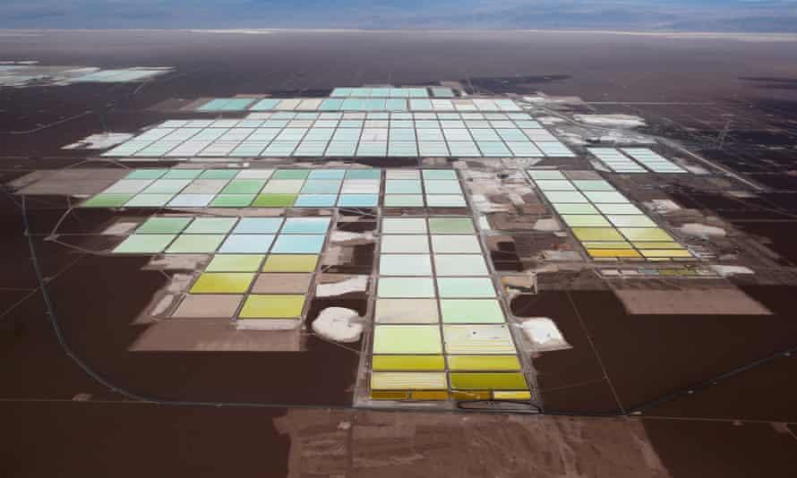 A lithium mine on Chile's Atacama salt flat.