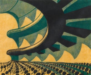 Concert Hall, 1929 by Sybil Andrews.