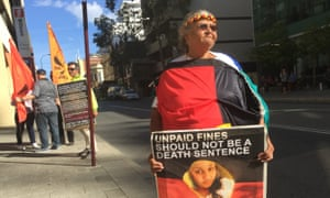 Carol Roe outside the inquest into the death in custody of her granddaughter Ms Dhu