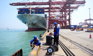 A port in China's Shandong province