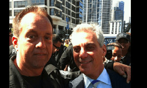 Robert Stegmiller and Rahm Emanuel