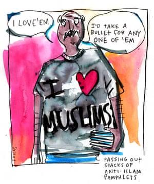 Fricas RNC cartoon I dont heart Muslims