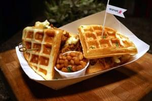 Log cabin waffle sandwich, Rogers Centre (Toronto Blue Jays)