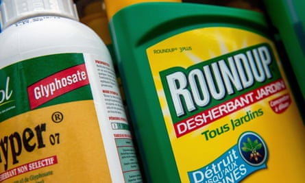 A bottle of Monsanto's 'Roundup' pesticide