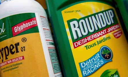 Roundup weedkiller in a gardening store in Lille.