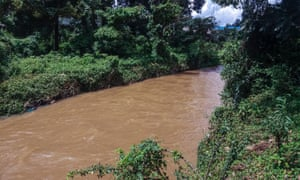 The Sosiani river. Six children drowned after police forced them into the river and fired teargas.