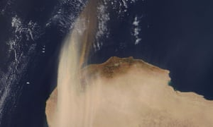 Dust storm in north Africa 2016.