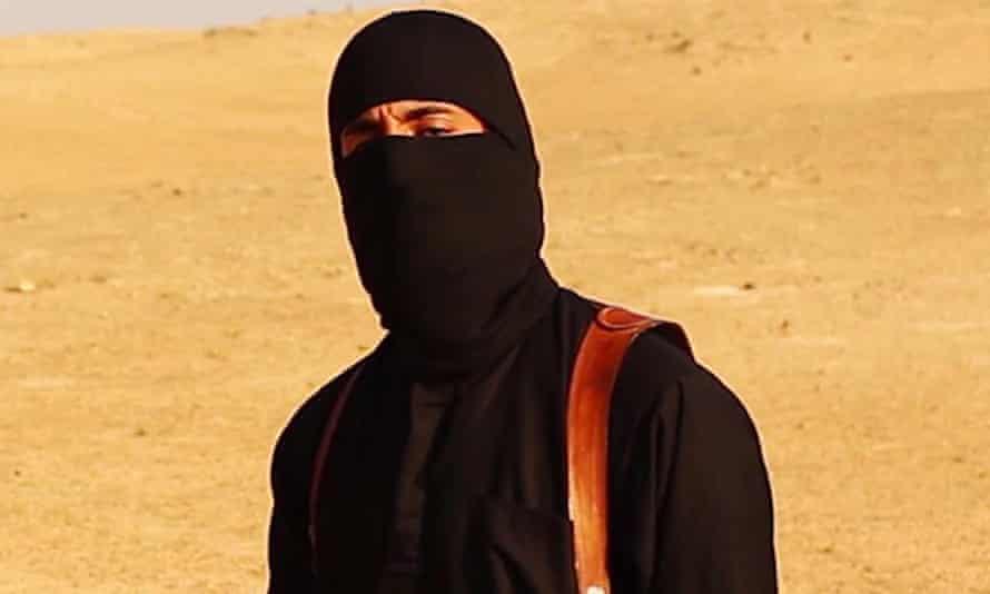 Emwazi seen in a still from Steven Sotloff ISIS video