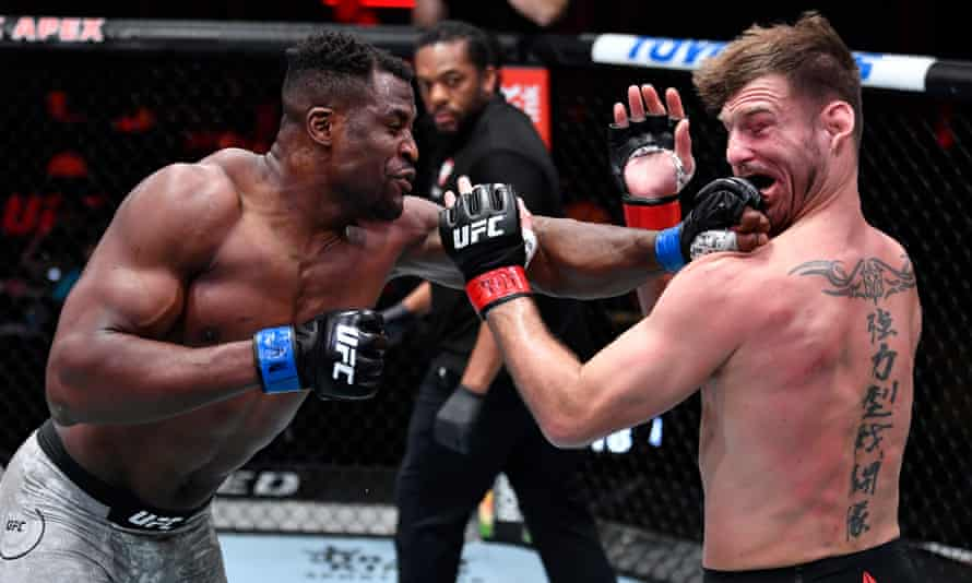 UFC 260: Francis Ngannou overwhelms Stipe Miocic to claim heavyweight title | UFC | The Guardian