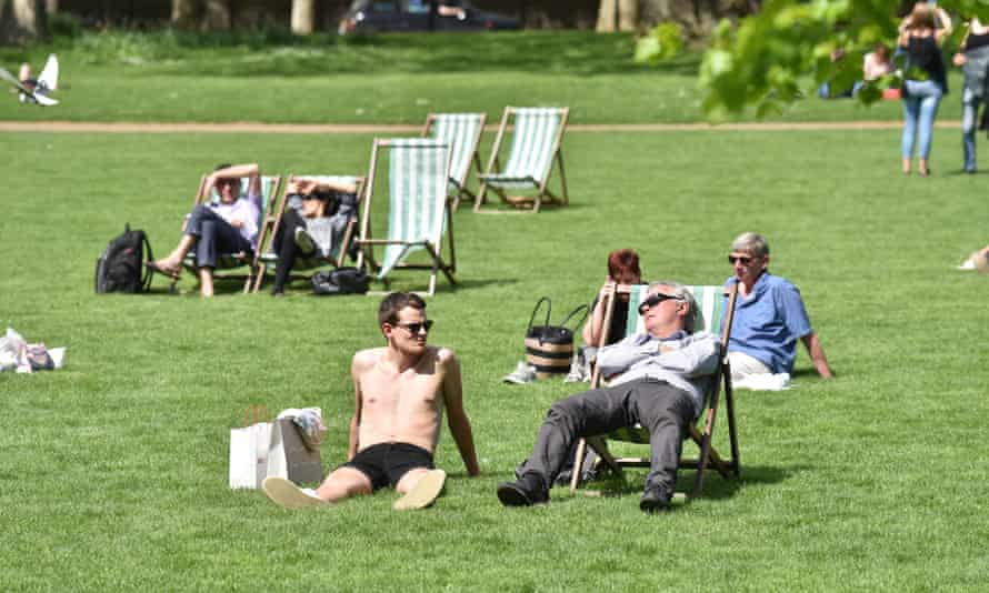St James's Park in London, during the 2018 heatwave.