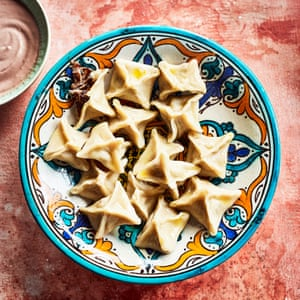 Classic manti filled with lamb neck.