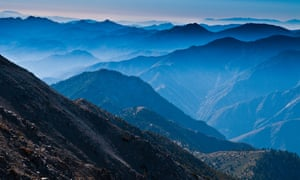 View from the summit of Mount Baldy, near Los Angeles.