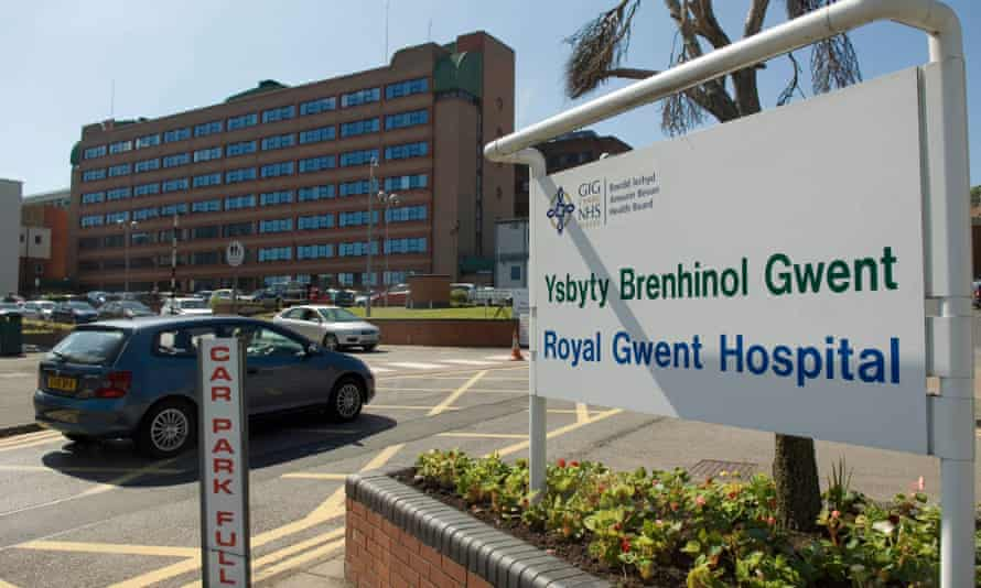 The Royal Gwent hospital in Newport, south Wales