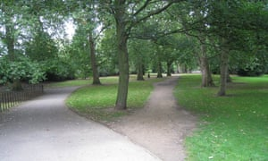 A 'desire path' in a park in London